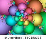 Fractal With Pastel Rainbow...