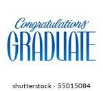 congratulations graduate vector ...   Shutterstock .eps vector #55015084