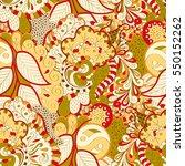 tracery seamless calming...   Shutterstock .eps vector #550152262