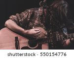 guitarist performing on stage... | Shutterstock . vector #550154776
