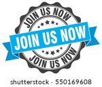 join us now. stamp. sticker.... | Shutterstock .eps vector #550169608