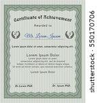 green certificate template.... | Shutterstock .eps vector #550170706