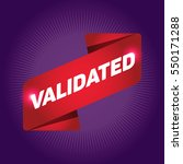 validated arrow tag sign. | Shutterstock .eps vector #550171288