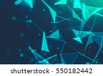 abstract polygonal space low... | Shutterstock . vector #550182442