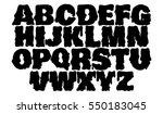vector melting type. trendy... | Shutterstock .eps vector #550183045