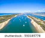 an aerial view looking over the ... | Shutterstock . vector #550185778