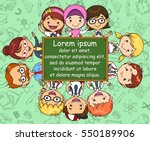 school theme template with... | Shutterstock .eps vector #550189906