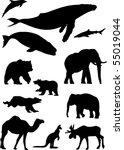wild animals. silhouette vector ...   Shutterstock .eps vector #55019044