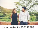 portrait of an attractive woman ... | Shutterstock . vector #550192702