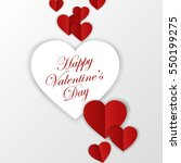 happy valentines day card.... | Shutterstock .eps vector #550199275