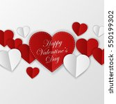 happy valentines day card.... | Shutterstock .eps vector #550199302