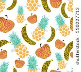 tropical fruits | Shutterstock .eps vector #550227712