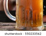cold beer mug with handle on... | Shutterstock . vector #550233562