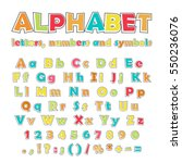cartoon colorful alphabet on... | Shutterstock .eps vector #550236076