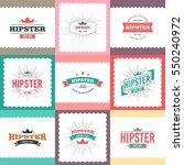 hipster logo concept | Shutterstock .eps vector #550240972