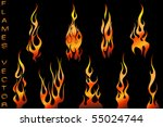 vector set of tattoo flames