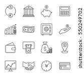 finance and banking line icons... | Shutterstock . vector #550249702