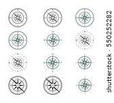 compass wind rose cardinal...   Shutterstock .eps vector #550252282