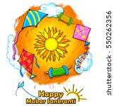 illustration of happy makar... | Shutterstock .eps vector #550262356