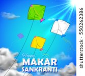 illustration of makar sankranti ... | Shutterstock .eps vector #550262386