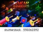 illustration of happy makar... | Shutterstock .eps vector #550262392