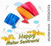 illustration of makar sankranti ... | Shutterstock .eps vector #550262416