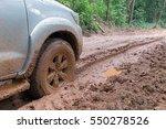 car's wheels in mud in the... | Shutterstock . vector #550278526