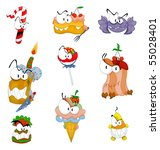 scary sweets for halloween or... | Shutterstock .eps vector #55028401
