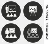 presentation vector icons set.... | Shutterstock .eps vector #550292782