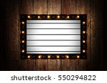 vintage message board with... | Shutterstock . vector #550294822
