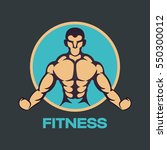 fitness logo vector icon design | Shutterstock .eps vector #550300012