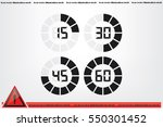 Digital Timer Icon Vector...