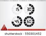 Digital Timer Icon Vector...