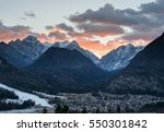 village mojstrana below julian... | Shutterstock . vector #550301842