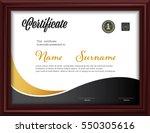 certificate template letter... | Shutterstock .eps vector #550305616