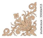 vintage baroque ornament retro...   Shutterstock .eps vector #550306915