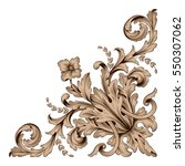 vintage baroque ornament retro... | Shutterstock .eps vector #550307062