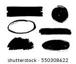 set of black paint  ink brush... | Shutterstock .eps vector #550308622