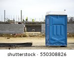 a portable toilet at a... | Shutterstock . vector #550308826