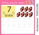 worksheet writing practice... | Shutterstock .eps vector #550311382