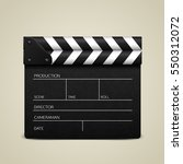 Clapper Board On White...