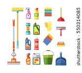 house cleaning tools and... | Shutterstock .eps vector #550314085