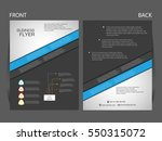 vector business flyer  magazine ... | Shutterstock .eps vector #550315072