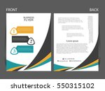 vector business flyer  magazine ... | Shutterstock .eps vector #550315102