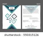 vector business flyer  magazine ...   Shutterstock .eps vector #550315126