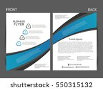 vector business flyer  magazine ...   Shutterstock .eps vector #550315132