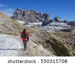 croda dei toni mountain   italy ... | Shutterstock . vector #550315708
