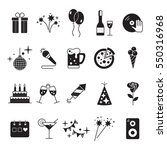 celebration icons set with... | Shutterstock . vector #550316968