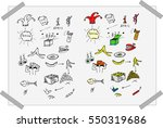 black and white and colorful... | Shutterstock .eps vector #550319686