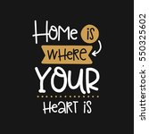 vector poster with phrase decor ... | Shutterstock .eps vector #550325602